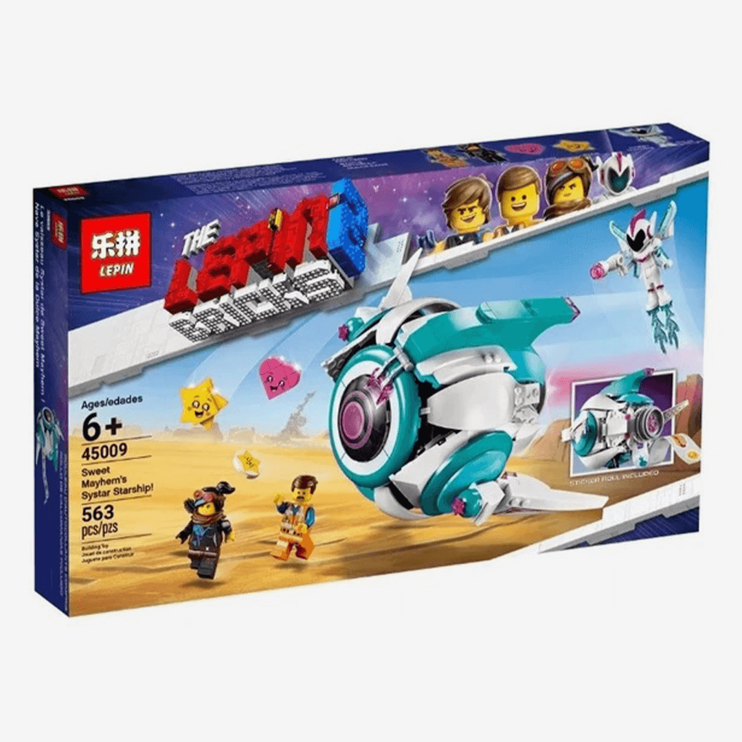 LEPIN Movie Sweet Mayhem Starship Space Ship Set Blocks