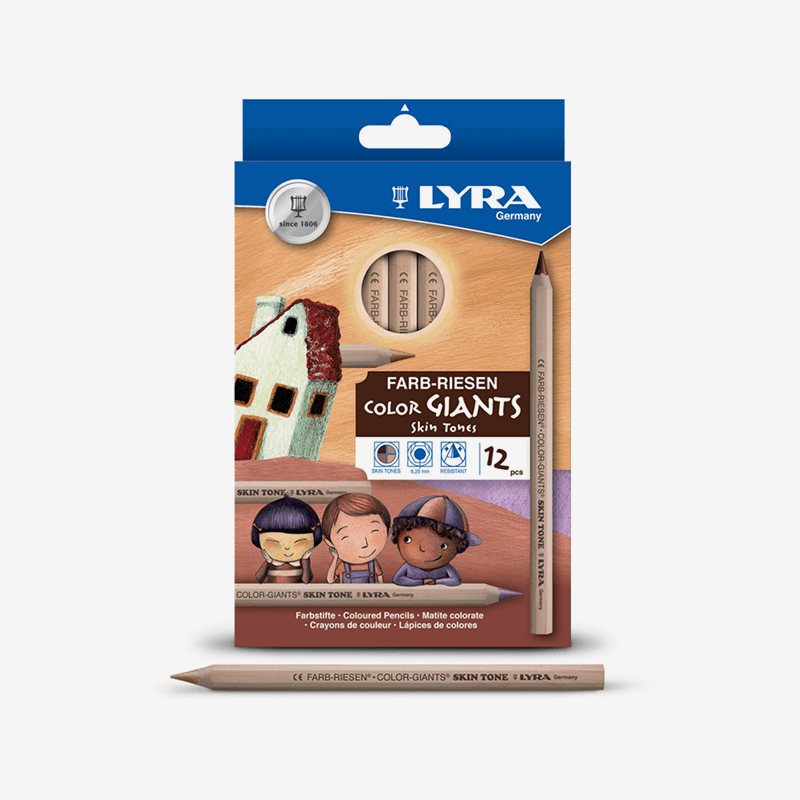 Lyra Giants Skin Tone Color Pencils Set of 12