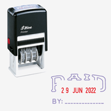 Shiny S401 Self-Ink Dater Stamp Paid - thestationerycompany.pk
