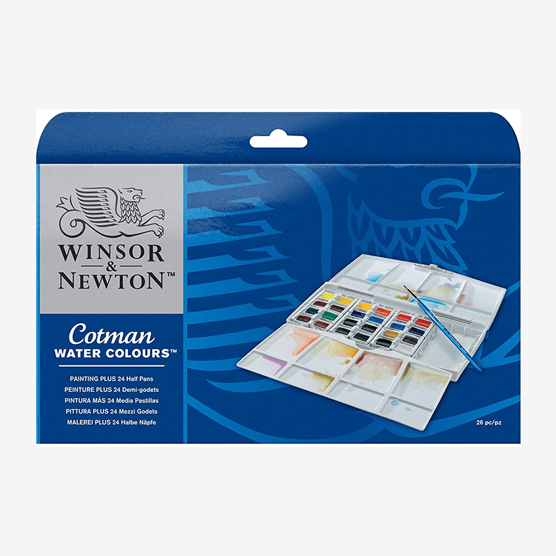 Winsor Newton Cotman Watercolor Set Of 26 Pieces - thestationerycompany.pk