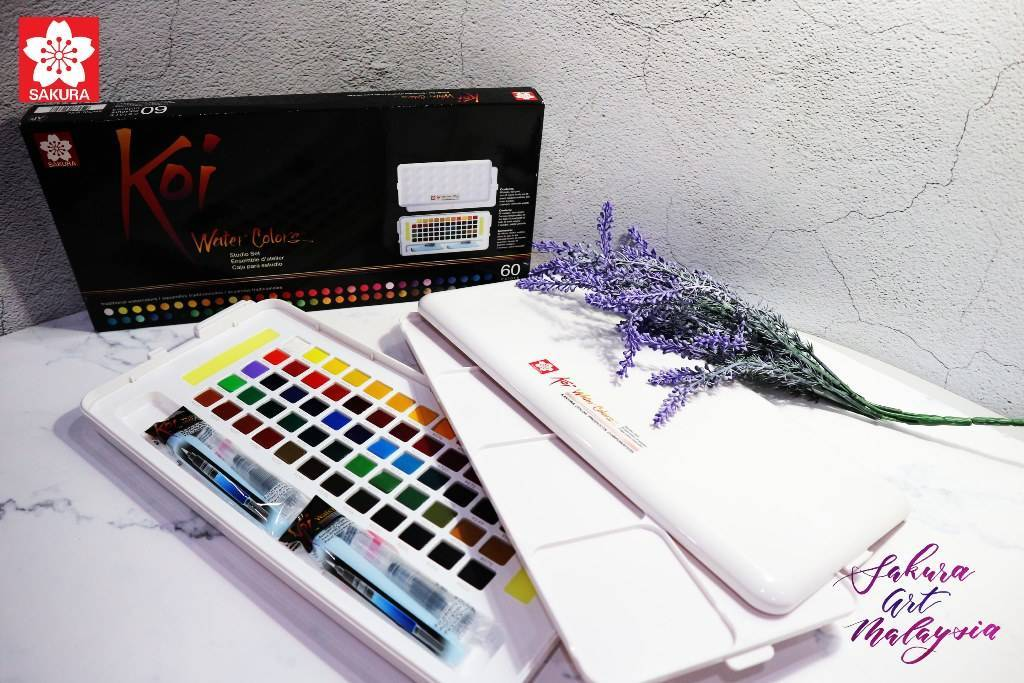 Sakura Koi Watercolor Set Of 60 - thestationerycompany.pk