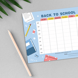 Back To School Time Table