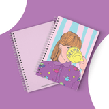 Drama Girl Cover Spiral Notebook