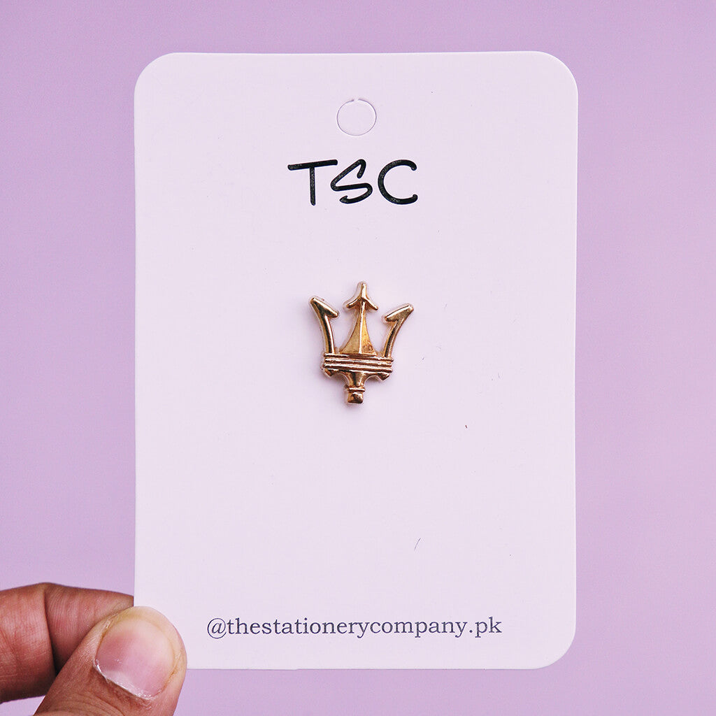 Golden Crown Icon Enamel Pin