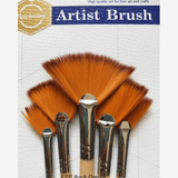 Keep Smiling Fan Brushes Set Of 5 Pieces