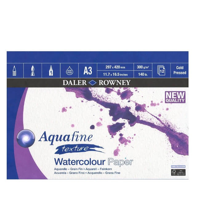 Daler Rowney Aquafine Watercolor Paper Pads - thestationerycompany.pk
