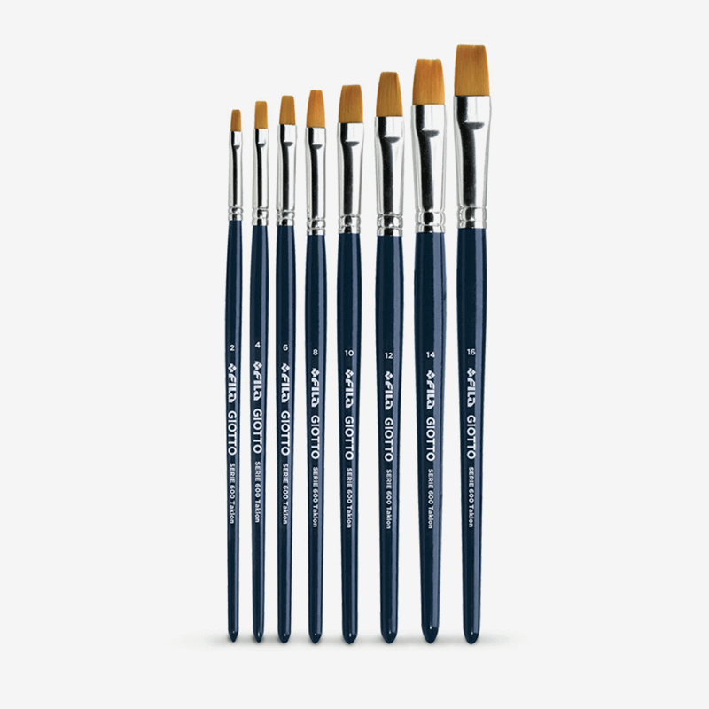Giotto Flat Taklon Paint Brushes