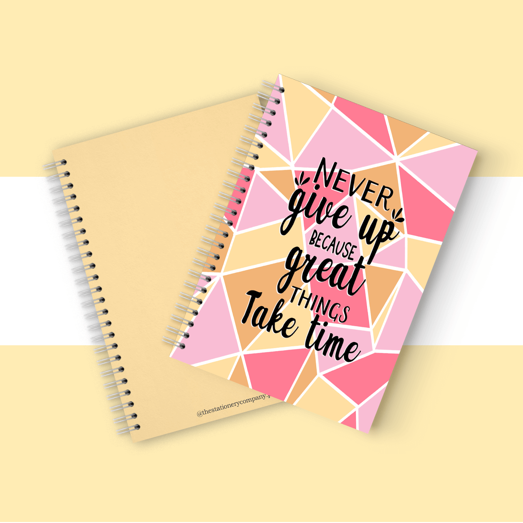 Never Give Up Spiral Notebook