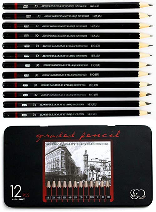 Ulson Drawing & Sketch Pencil Set Of 12 Pieces - thestationerycompany.pk