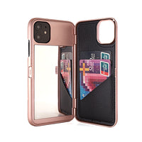 Wallet Make Up Mirror Dual Layer Flip Case for iPhone-Smart Product Sales
