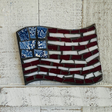 DIY Mosaic Kit | American Flag | Limited Edition - Mosaics at the Farm