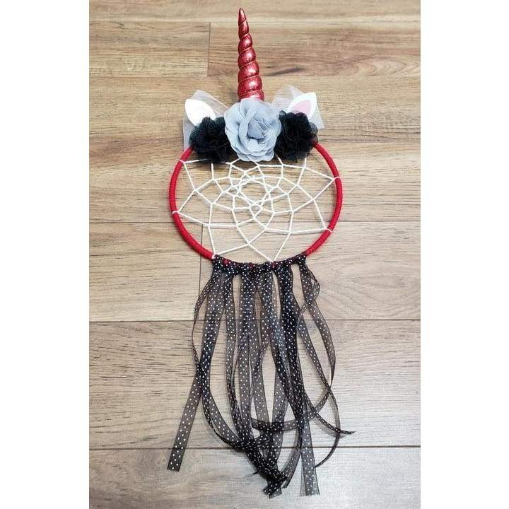 "8"" Red/Black Unicorn Dream Catcher by Green Apothecary Gifts - Green Apothecary, Inc. - 14019049929"