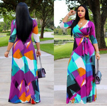 Load image into Gallery viewer, New fashion women's skirt summer dashiki for women plus size africa clothing elastic dashiki dress african dresses for women