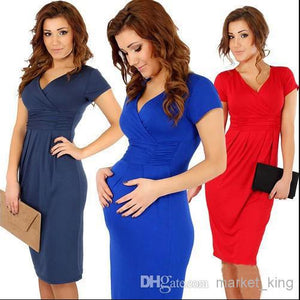 plus size women clothing bodycon Slim package hip sexy V-neck stretch dresses party dress fashion dresses also best for pregnant women party
