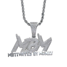 Load image into Gallery viewer, New Fashion Motivated By Money Iced Out Necklace For Mens Party Bling Bling Rock
