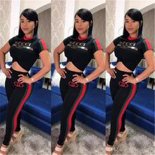 Load image into Gallery viewer, Women Printed Two Piece Sets Designer Short Sleeves Tracksuit Summer outfit