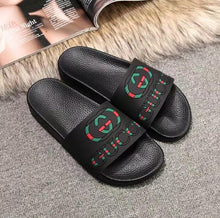 Load image into Gallery viewer, With Box 2018 Slides Summer Luxury Desig ner Beach Indoor Flat G Sandals