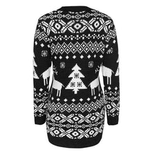 Load image into Gallery viewer, Womens Designer Christmas Theme Sweater Dress Long Sleeve O-Neck Fashion Autumn Winter Slim Clothing Womens Casual Knitted Sweater Dress