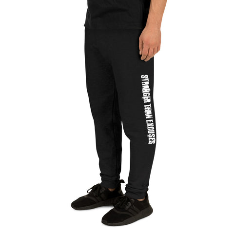 Stronger Than Excuses Joggers Black