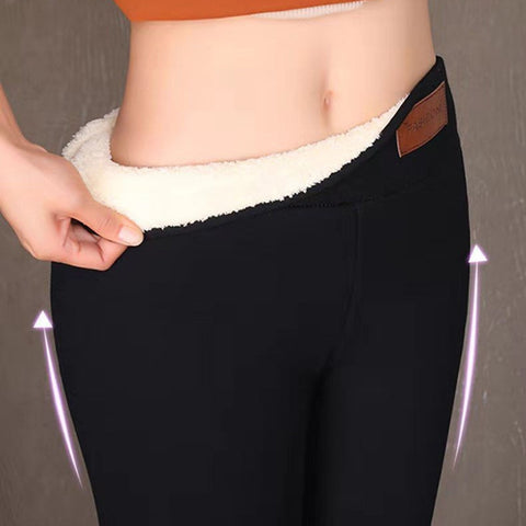 Thick Velvet Wool Fleece Ladies Leggings