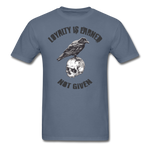 Loyalty Is Earned Raven Tee - denim