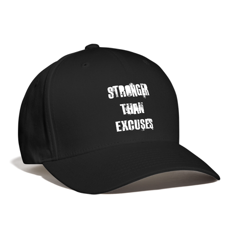 Stronger Than Excuses Hat - black