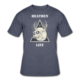 Heathen Life Black Tee - navy heather