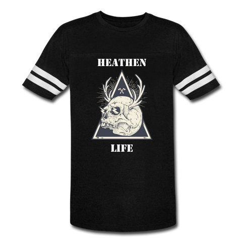 Vintage Heathen Life Sport T-Shirt - black/white