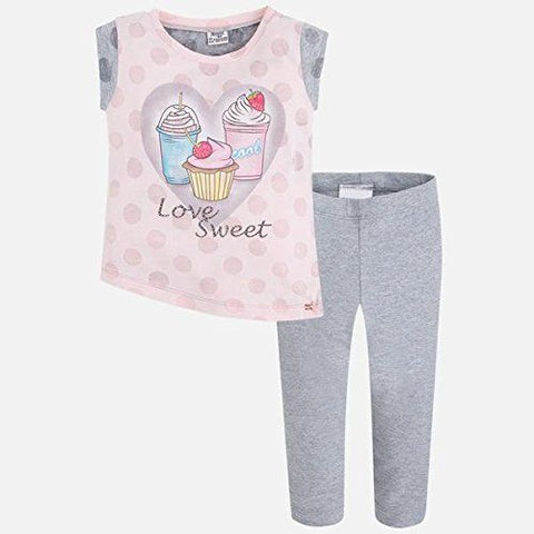 Mayoral Girls Love Sweet 2 Pc Set Tunic and Leggings