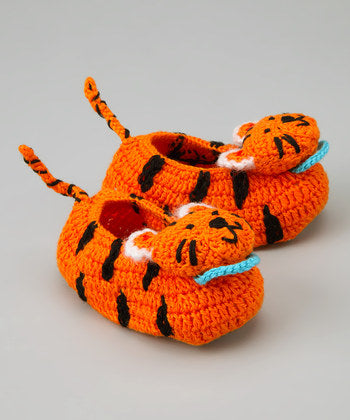 Best of Chums Tiger Crocheted Booties