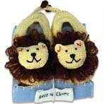 Best of Chums Lion Crocheted Booties Size 12 Months Only