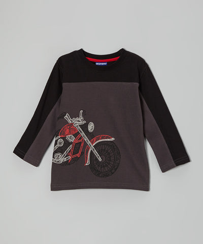 Boys CR Sports Long Sleeved Motorcycle Tee Size 4 Only Style 33653TCHA