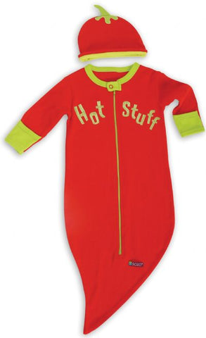 Sozo Baby Bunting and Fitted Cap Swaddle Set Chili Pepper Hot Stuff BUNT-06