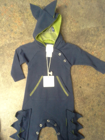 Boys Lemon Loves Layette Dinosaur Spike Attack Romper Size 0 to 3 Months Only - Runwayz Boutique