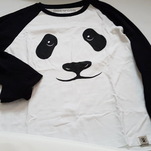 Boys Dogwood Panda bear long sleeve tee Sz 8 Gently Loved
