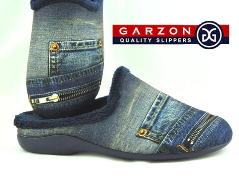 Ladies Garzon Denim Look Slipper G1-7064