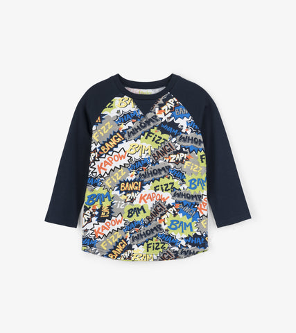 Hatley Boys Raglan Sleeved Comic BubblesTop