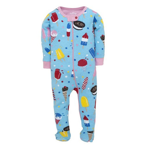 Hatley Baby Girls Footed Coverall Icy Treats