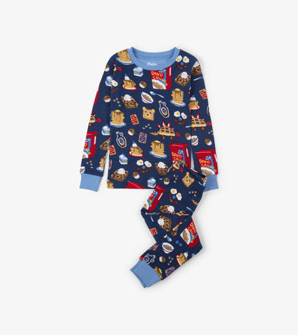 Hatley Boys Pajama Set Breakfast Time Organic Cotton