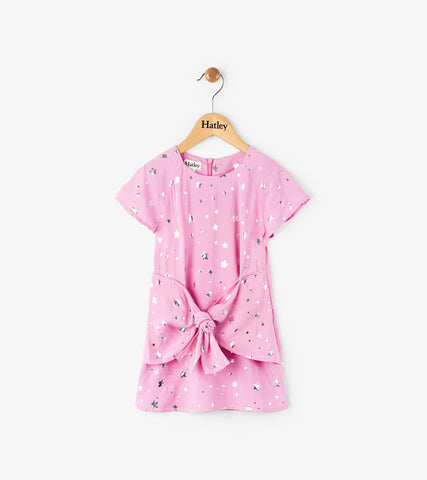 Hatley Girls Pink Star Dress Size 3