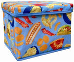 Iscream Junk Food Print Collapsible Storage Bin