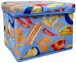 Iscream Junk Food Print Collapsible Storage Bin - Runwayz Boutique