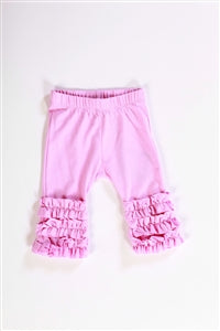 Girls Kidcute Ture Rose Pink Ruffled Bottom Baby Leggings Size Large Only Style 132-454