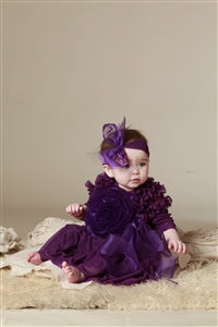 Baby Girls Kidcute Ture Tia Dress in Plum Size 12 months - Runwayz Boutique