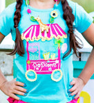 Girls Lemon Loves Lime Popcorn Cart Tshirt