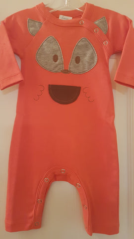Boys Lemon Loves Layette Fox Pocket Romper Size 3 to 6 Months Only - Runwayz Boutique