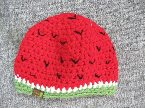 Watermelon Toque Size 3 to 9 Months Only by Lots of Knots