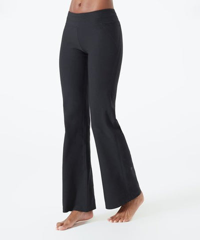 Ladies MPG Performance Nouveau Wide Leg Yoga Pant in Black - Runwayz Boutique