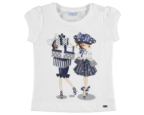 Mayoral Girls Shopping Print Tshirt Style 3011 Sizes 2 4 8 or 9