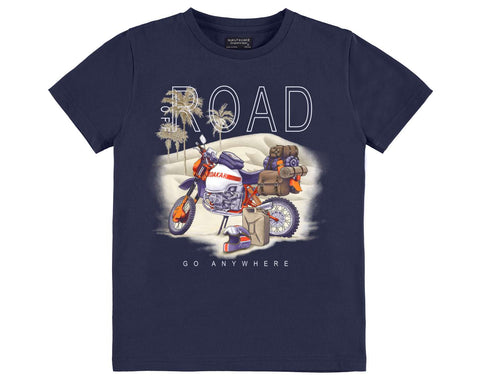Nukutavake Mayoral Boys Off Road Dirtbike Tshirt in Blue Style 6036 Last One Size 10 - Runwayz Boutique